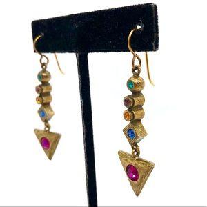 Patricia Locke Gold Dangling Earrings